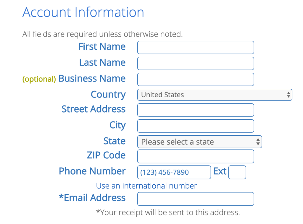 Create your bluehost account and claim free domain name