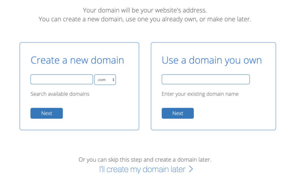 book a free domain name with bluehost